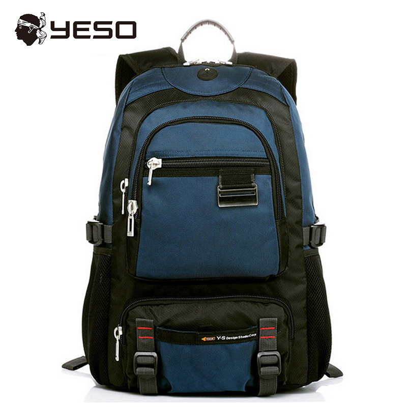 Yeso Brand Men's Backpack 14 15.6 Inch Casual Backpack Bag For Teenager New Waterproof Oxford Blue Black Backpacks Women