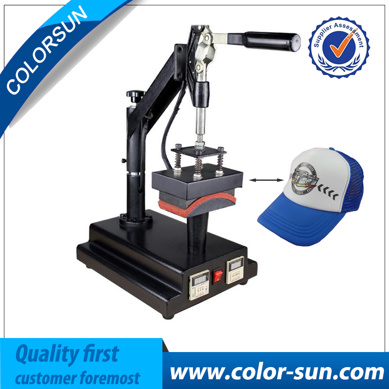Manual heat transfer press machine for hat baseball cap heat press machine cap heat press machine digital swing away heat press for caps hat heat press print sublimation personalised baseball snapback