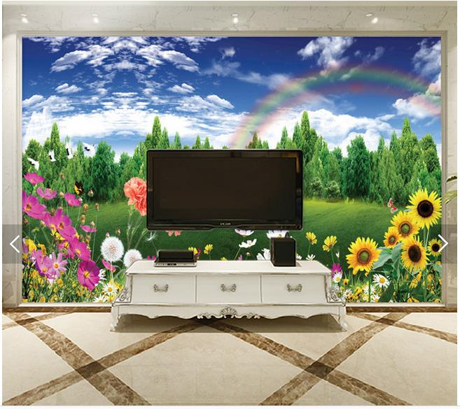 buy custom 3d tv wallpapers and backgrounds murals hp spring fashion decoration. Black Bedroom Furniture Sets. Home Design Ideas