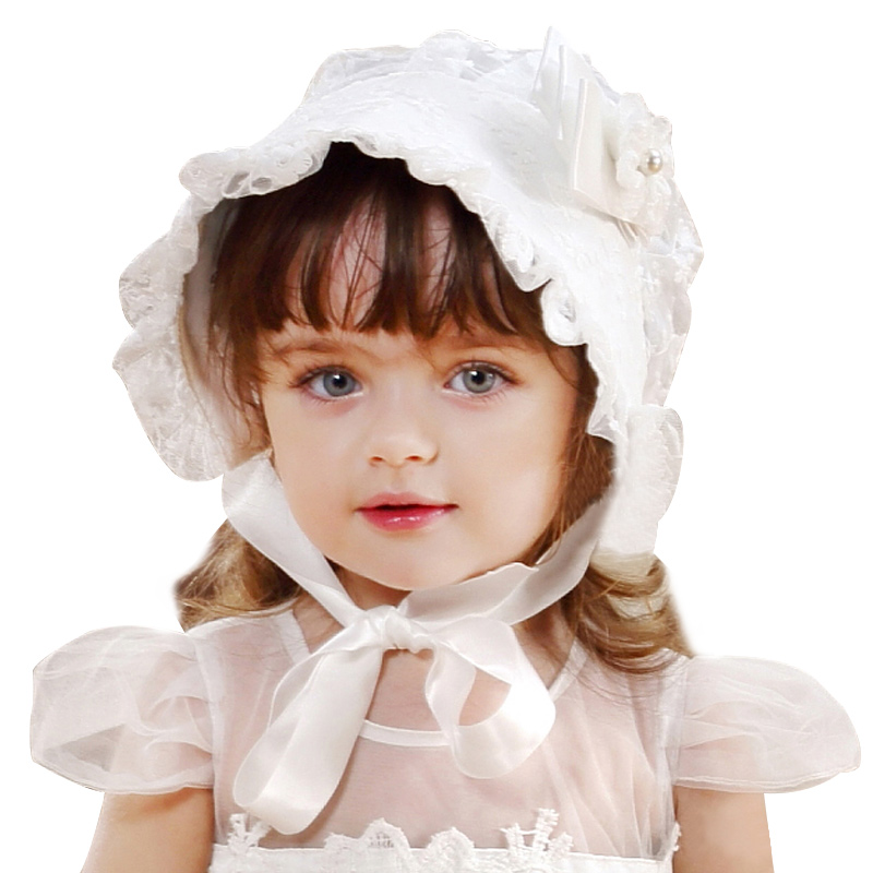 Lace Girls Hat Flower Princess Sun Hat Lace Up Girls Palace Beanie European Style Baby Hat Spring Autumn Baby Girls Clothing (5)