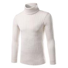 Горячие продажи Толстый свитер мужской Корейской зимой 2016 новых людей свитер выращивания диких сплошной цвет рубашки прилив