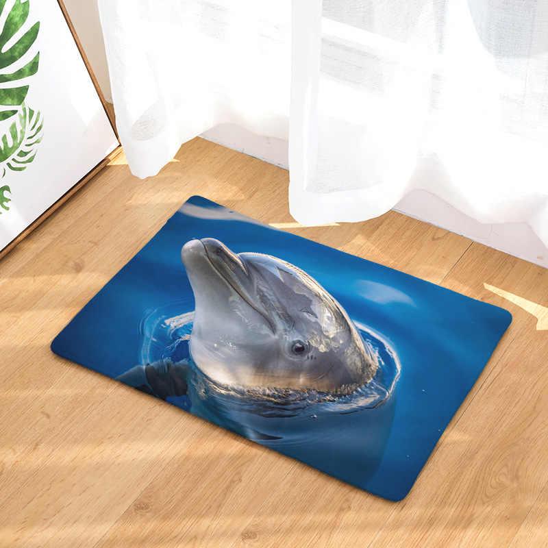 CAMMITEVER stóp drzwi jogi krzesło zagraj Mat łazienka korytarz dywan obszar dywan prostokątna domu dekoracji delfin w błękitne morze