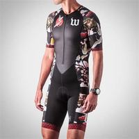 2019 Wattie ink men summer cycling clothing skinsuit speedsuit roupa ciclismo triathlon triatlon maillot MTB downhill jumpsuit