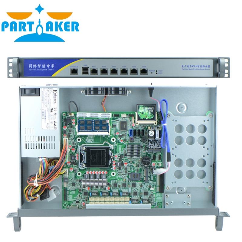 Intel Pentium G2010 Firewall Appliance Server with 6 Intel PCI-E 1000M 82574L LAN