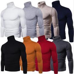 Мода Мужчины Женщины сплошной свитер водолазка для победителя