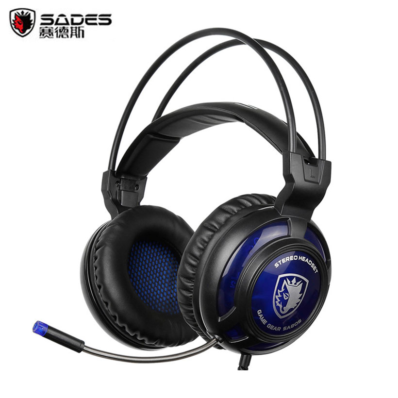 Sades SA805 2016 New Xbox One/PS4 Gaming Headset Gamer Computer Surround Stereo Game Headphones with Microphone Volume Control each g8200 gaming headphone 7 1 surround usb vibration game headset headband earphone with mic led light for fone pc gamer ps4
