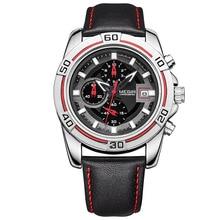 MEGIR Hommes de Montres Militaires Marques Édition Limitée Relogio Running Man Quartz masculino montre-bracelet en cuir Chronographe 2023