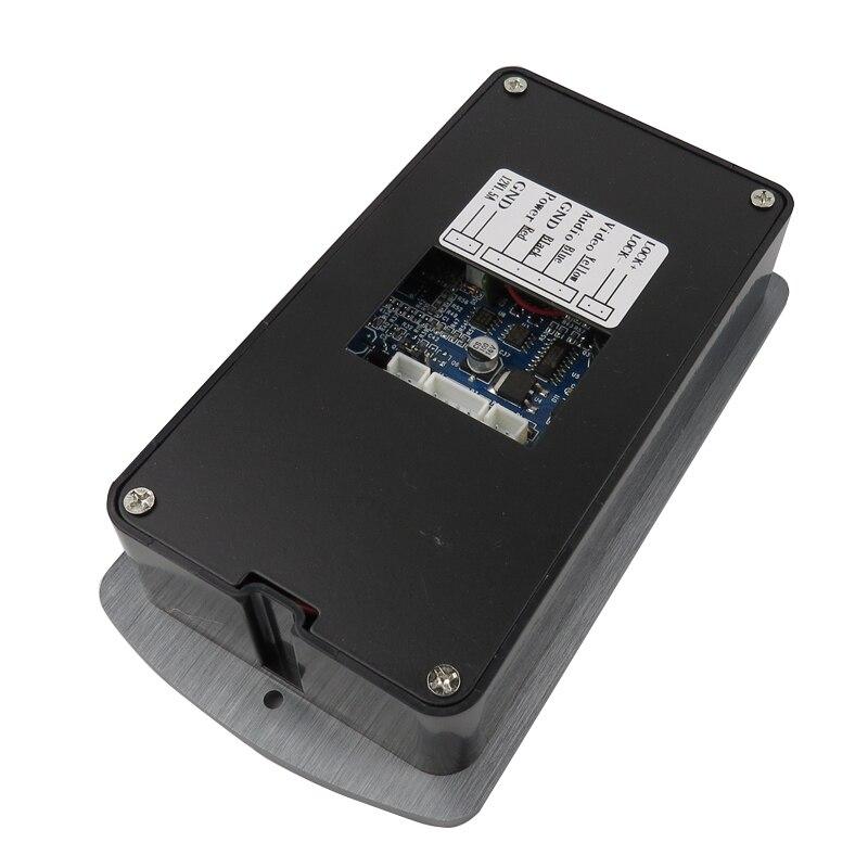 Бесплатная доставка Главная 7 Цвет телефон видео домофон RFID Доступа Водонепроницаемый Камера + 2 белый Экраны + 180 кг Магнитная e-lock