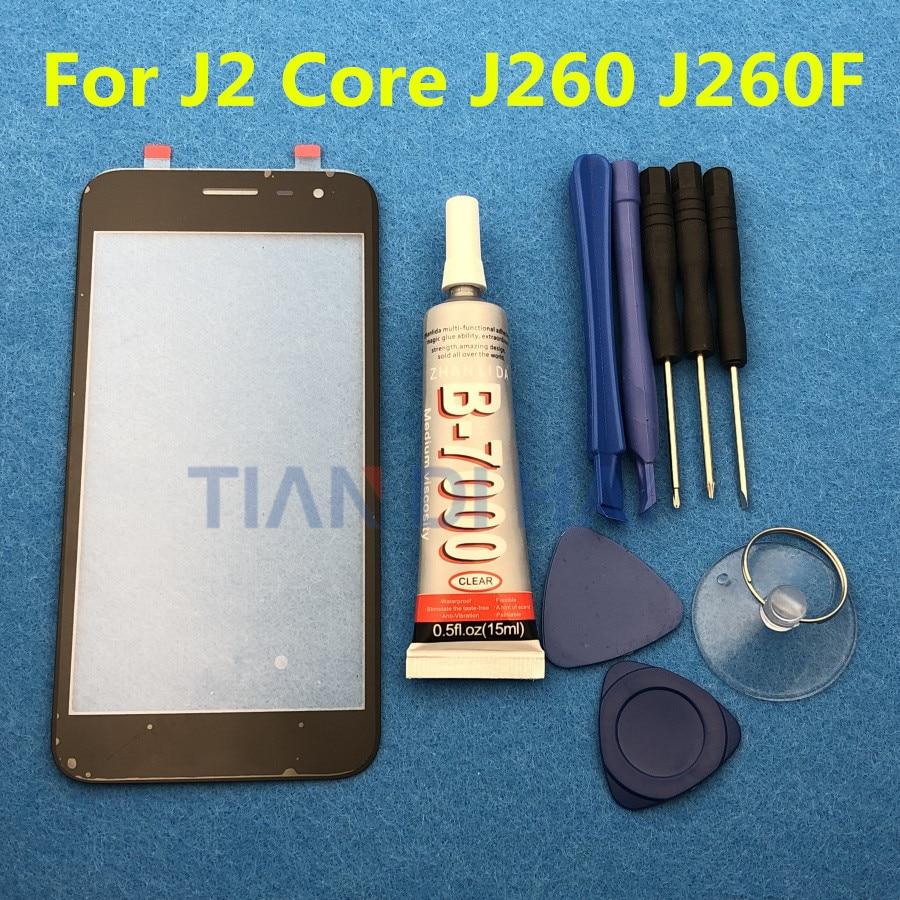 Оригинальный ЖК экран сенсорной панели для Samsung Galaxy J2 Core J260 J260F J260SM Переднее стекло Внешний объектив + B 7000 инструменты для клея|Сенсорные панели (тачскрин)|   | АлиЭкспресс