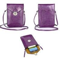 ユニバーサルプレミアムレザーポケットポーチバッグwalletl case用iphone 7プラスとすべての6.3インチ下記スマートフォンカバー女の子ホルスタ