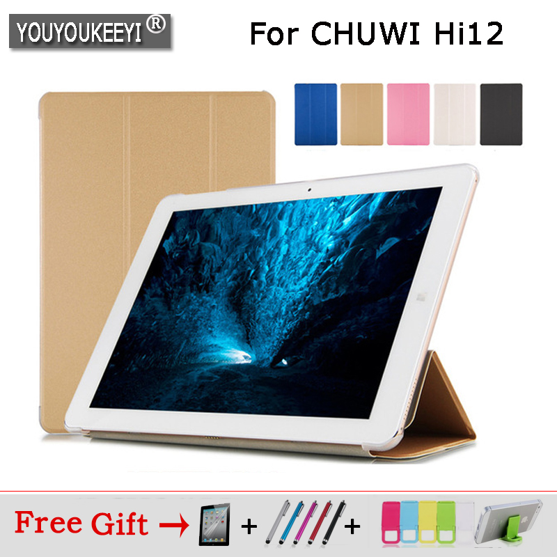 Ultra-Thin Transparent shell PU Case For CHUWI Hi12 12 inch case cover for chuwi hi12 tablet Freeshipping+gift for chuwi hi12 flip leather case for chuwi hi12 12 inch tablet pc for chuwi hi 12 case with card holder drop shipping stylus