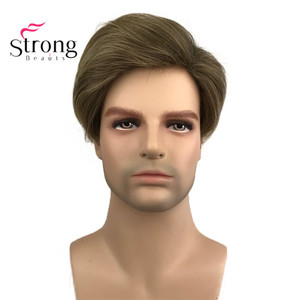 Image 3 - StrongBeauty Light Brown Short Mens Wigs Synthetic Full Wig for Men