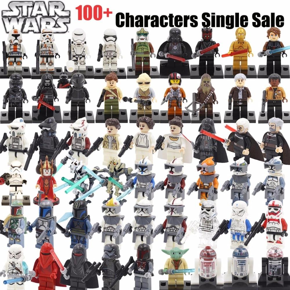 Single Minifigures <font><b>Star</b></font> <font><b>Wars</b></font> 7 <font><b>The</b></font> <font><b>Force</b></font> <font><b>Awakens</b></font> Kylo Ren BB-8 TIE Building Block Set Models Figures Toys Compatible With Legoes