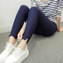 Maternity Belly PantsMaternity Leggings Cotton High Waist Adjustable Belt 9 Points Pants Legging Clothes for Pregnant