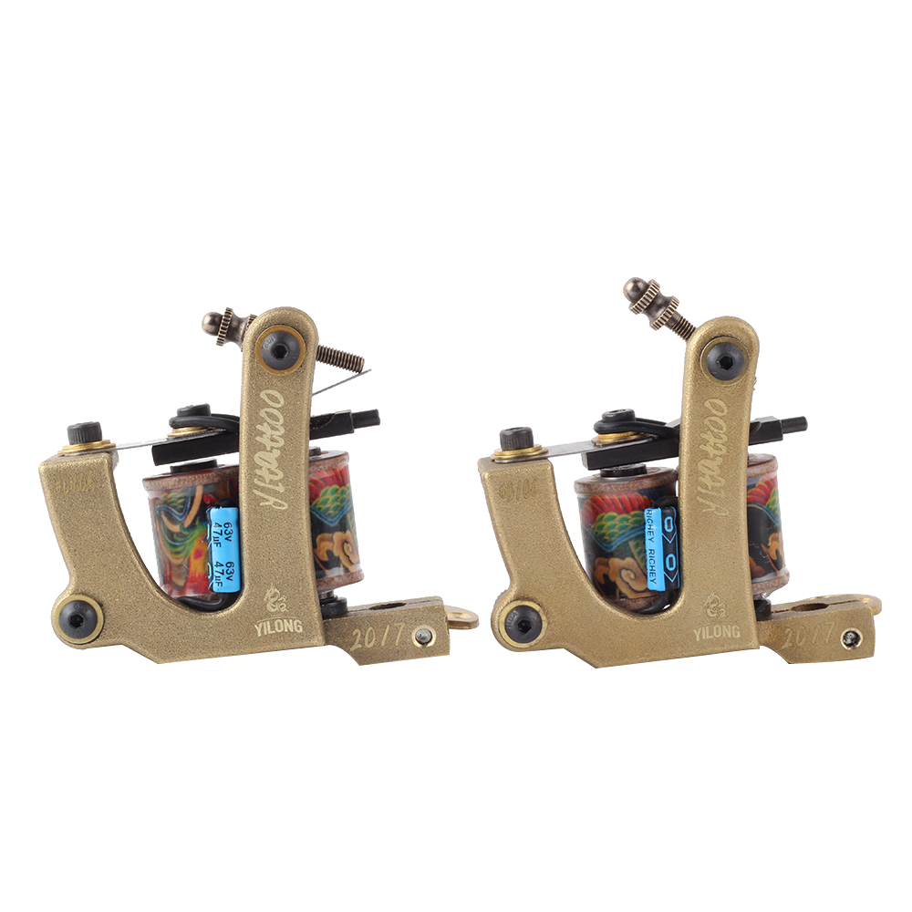 YILONG 2017 High Quality Coil Tattoo Machines for Two Tattoo Machine Gun As Liner and Shader
