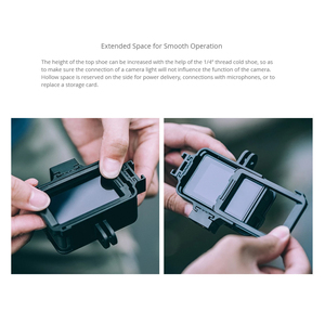 Image 5 - PGYTECH Camera Cage Accessory Protection Housing Frame Case Universal Interface Expansion Accessories for DJI OSMO Action