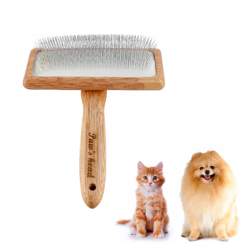 Munchkin Bamboo Small 2-In-1 Double Sided Dog /& Cat Grooming Brush