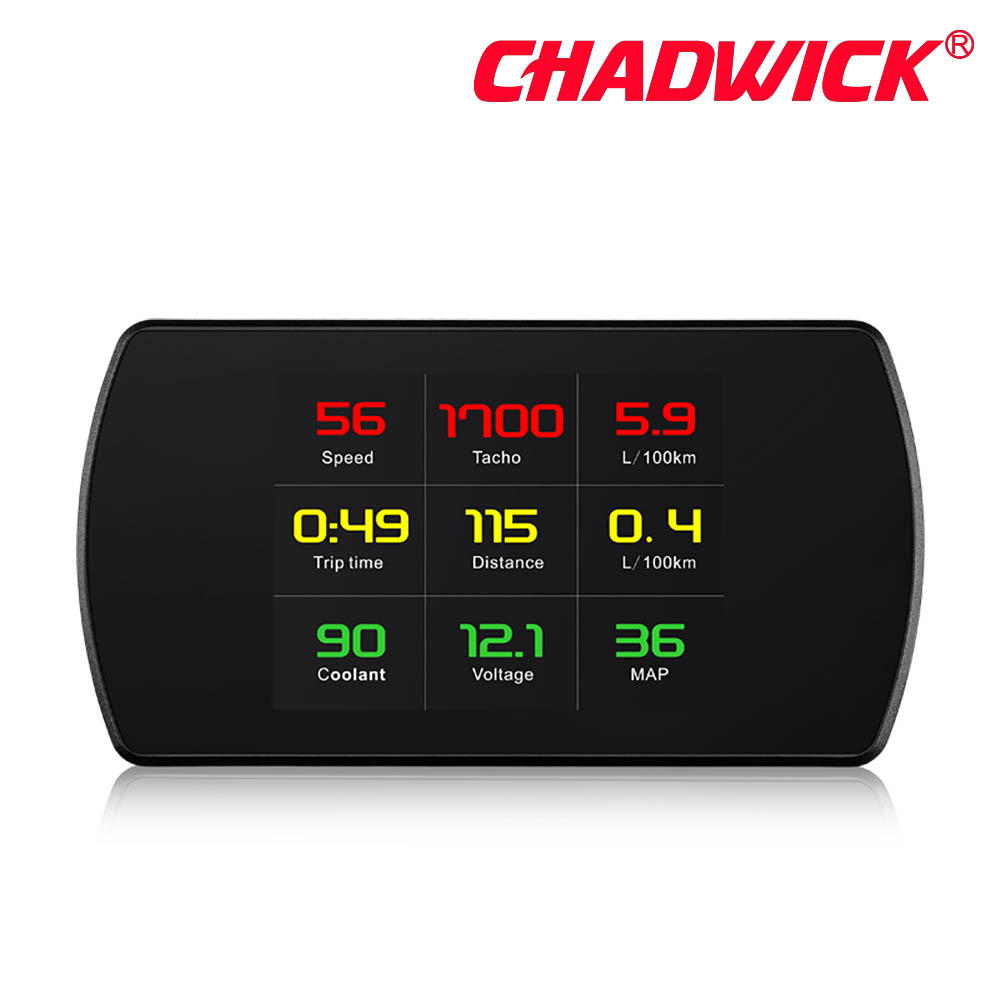 Image 4 - OBD Hud Head Up Display Digital Car Speed Projector On Board Computer OBD2 Speedometer Windshield Projetor CHADWICK P12 5.8 TFT-in Head-up Display from Automobiles & Motorcycles