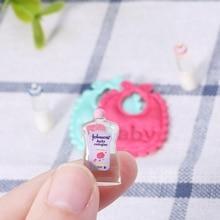 Drop ShiP New 1:12 Baby Bottles Shampoo Bib Set Doll House Miniature Nursery Accessory