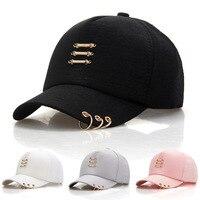 Mũ bông Bóng Chày Cho Phụ Nữ Đàn Ông Nhẫn Cotton Cha Hat Điều Chỉnh Nắp Đồng Bằng Phong Cách Thời Trang