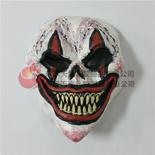 Hot Sale Halloween Party Cosplay Funny Scary Latex Clown Mask Men's Scary Clown Joker Face Mask Free size in stock Free shipping