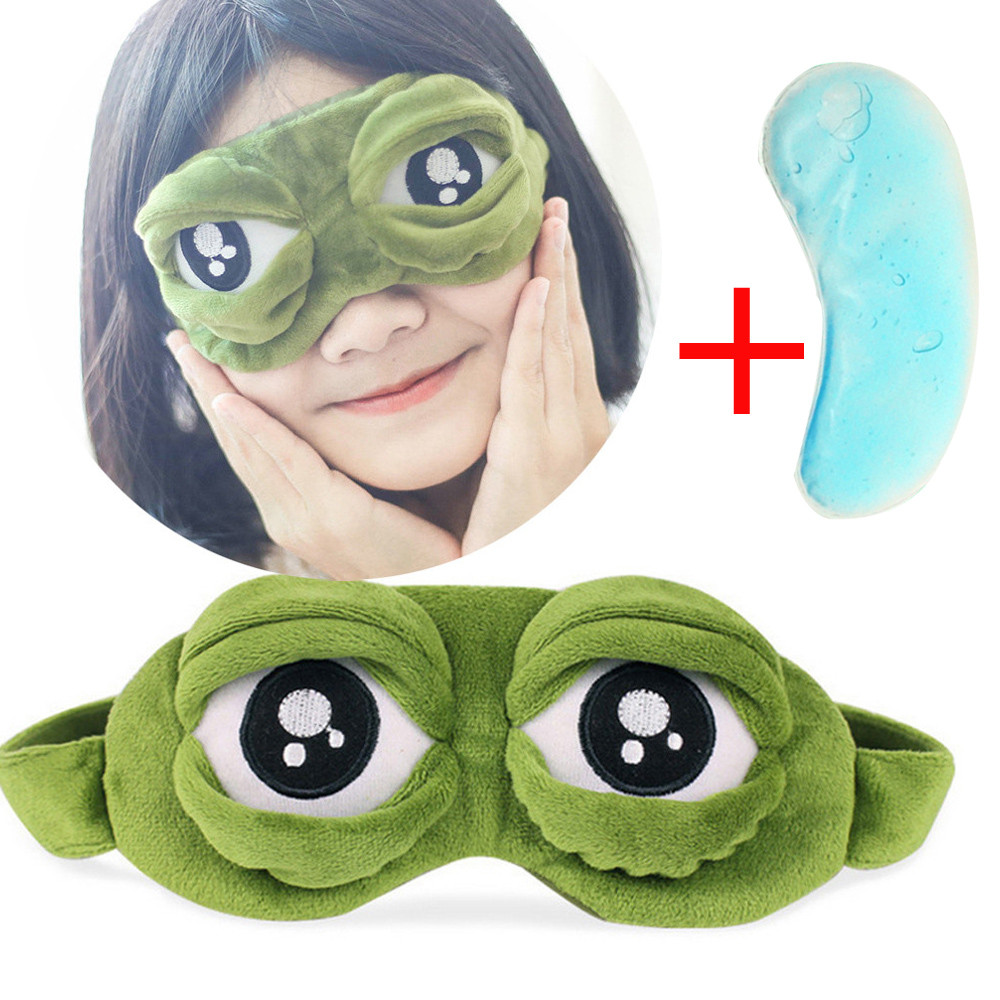 1 Pcs Cute Cartoon Eyes Cover The Sad 3D Eye Cover Sleeping Rest Sleep Anime Funny Gift Blinder Tools 2019 Jan08