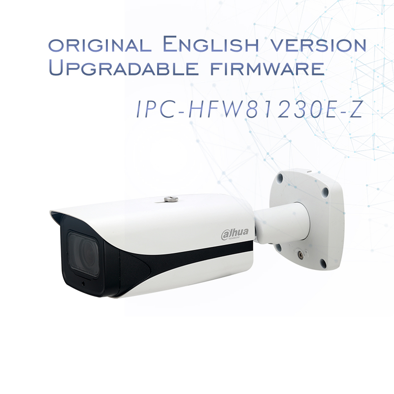 4k 12MP IP Camera IPC-HFW81230E-Z IR Bullet Camera 4.1mm-16.4mm motorized lens Support POE and SD card