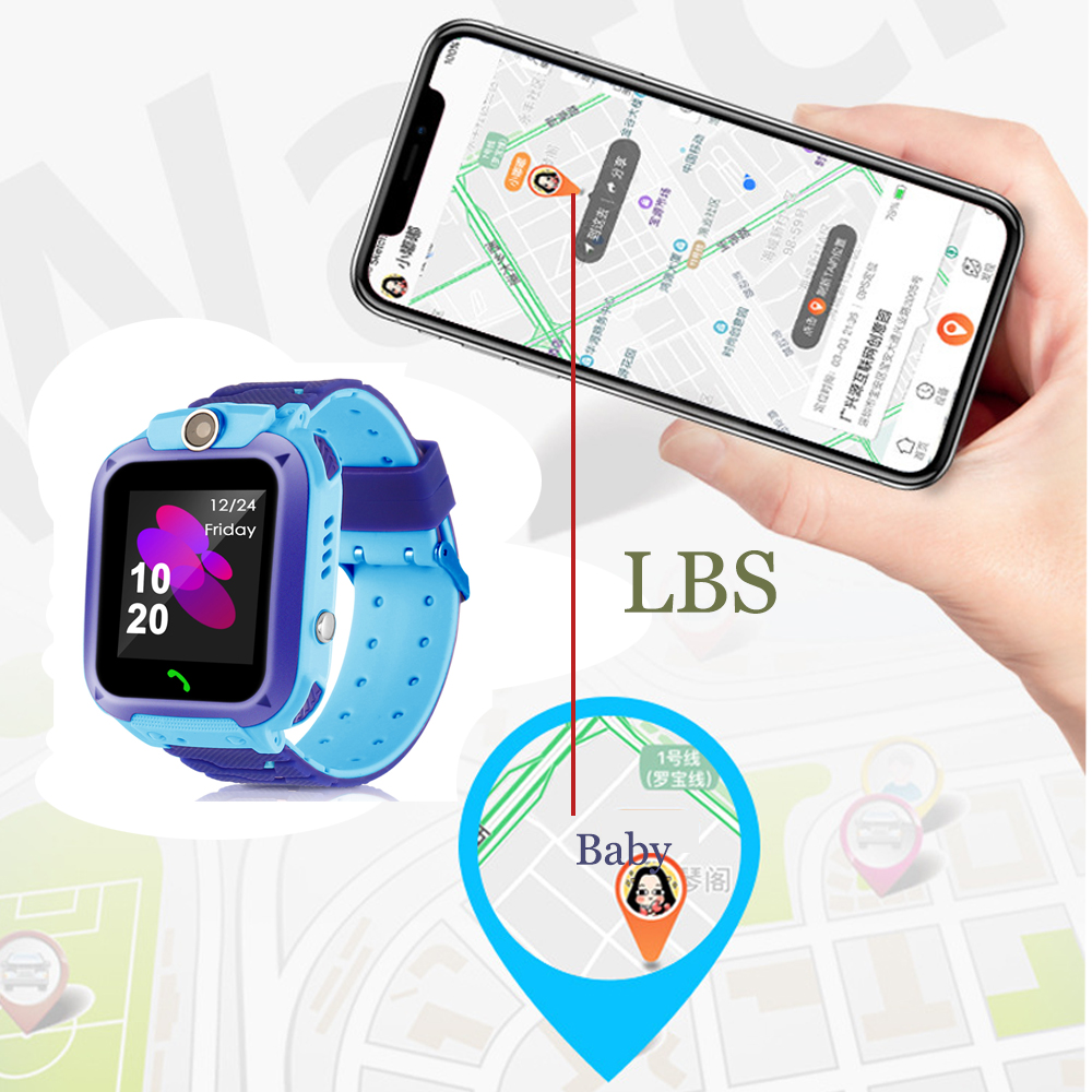 High Quality Newest Waterproof Tracker Smart Kids Child Watch Anti-lost SOS Call Smart Watch For iOS Android 15