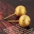 Gussiarro Нежный 24 К Желтого Золота Гальваническим женская Золотая Шпилька Серьги Для Женщин Нет Никель