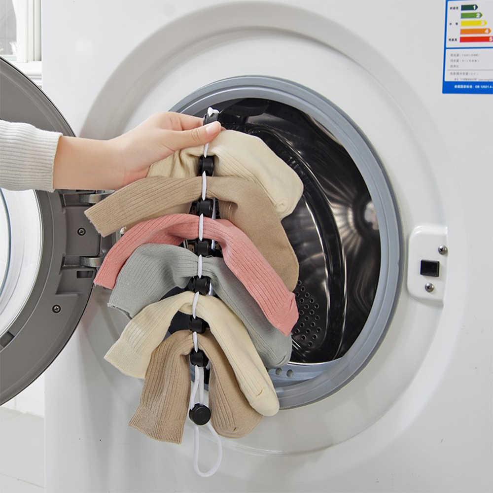 Kreative Multi-funktion Hängen Linie Für Trocknen Socken Haushalt Kleidung Korb Trocknen Netto Trocknen Socken Rack Kleiderbügel