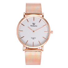 WOMAGE Brand Top Luxury Ultrathin Women Watches Women Casual Rose Gold Quartz Wristwatches Relogio Feminino Montre Femme Relojes