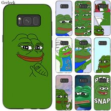 Silicone Mobile Phone Case For Samsung A70 A60 A50 A40 A30 A20 A10 A9 A8 A7 A6 A5 A3 J6 Cover The Frog Meme Shell Bag(China)