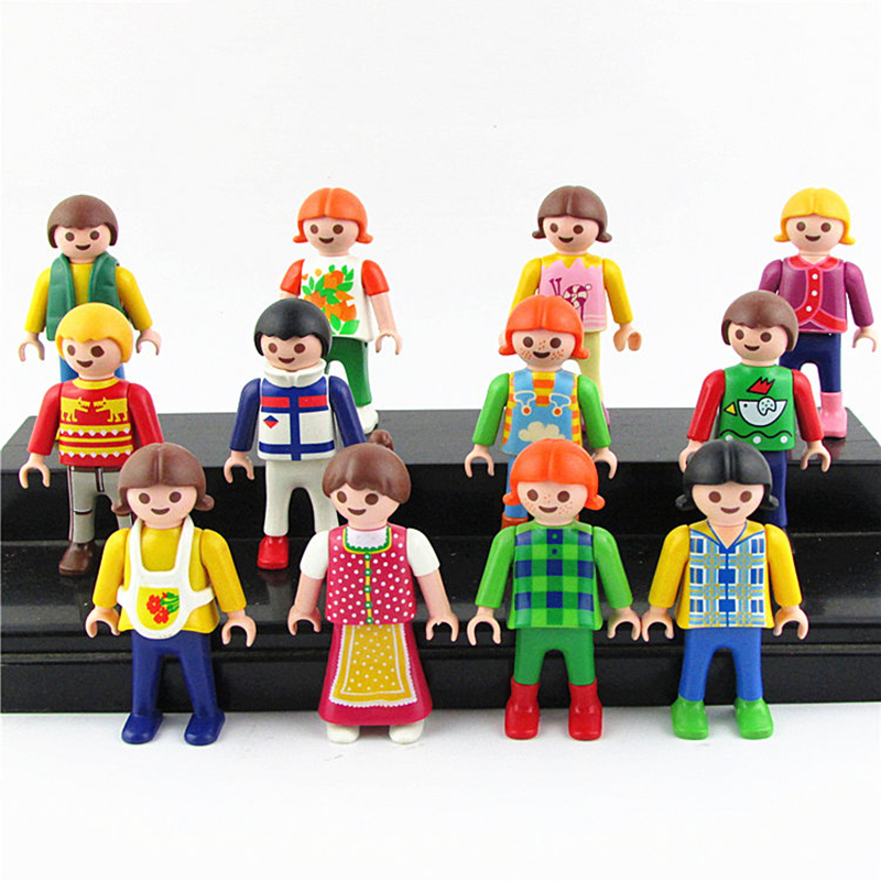 5CM 8/10Pcs Playmobil Classical Collection Play Games Toy Action Figures Toys For Children Christmas Cartoon Toys& gift Random catalog games collection