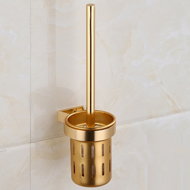 New Arrival Gold Toilet Bowl Brush Wall Mounted Bath
