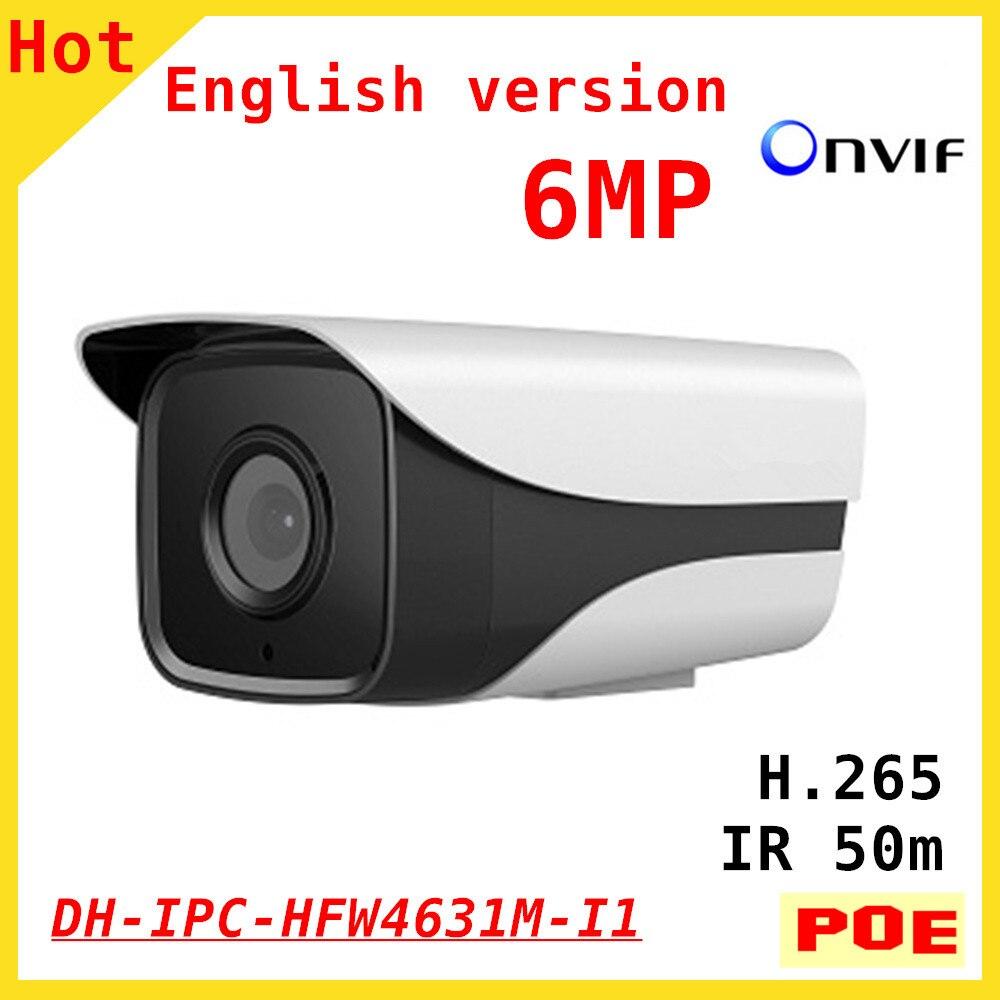 Оригинальный DH 6MP ip-камера IPC-HFW4631M-I1 ИК 50 м 1080P Full HD Поддержка POE и Onvif камеры безопасности