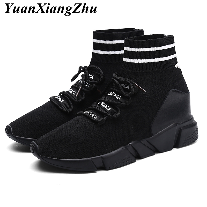 все цены на High Quality Brand Men Boots 2018 Autumn Lace-Up Unisex Ankle Boots Men High-top Winter Shoes Man Casual Shoes Fashion Sneakers