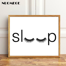 NUOMEGE Bedroom Minimalist Poster Sleep Wall Art Fashion Print Canvas Painting Decorative Picture Decor