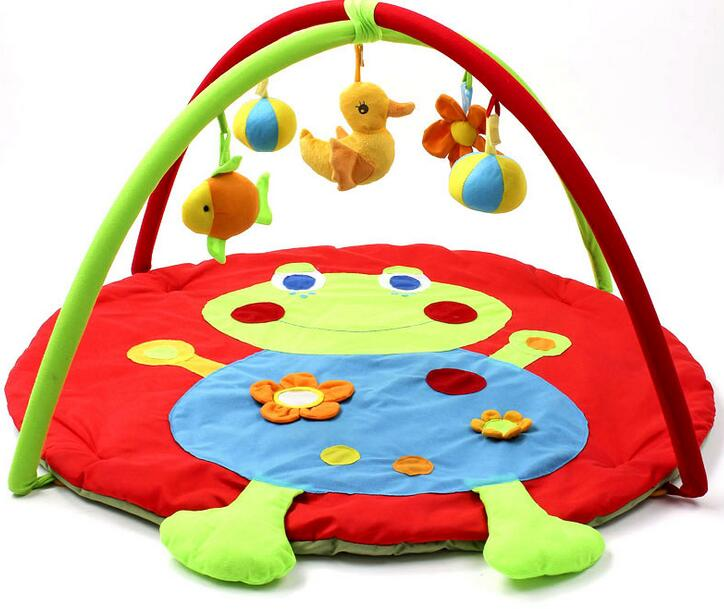 Portable Baby Play Mats Educational Toys Frog Baby Crawling Mats Baby Cushion 0-12 Month Baby Toys Mats baby play mats brown bear baby crawling mats baby cushion 0 12 months baby mats gifts 95cm 95cm toys mat