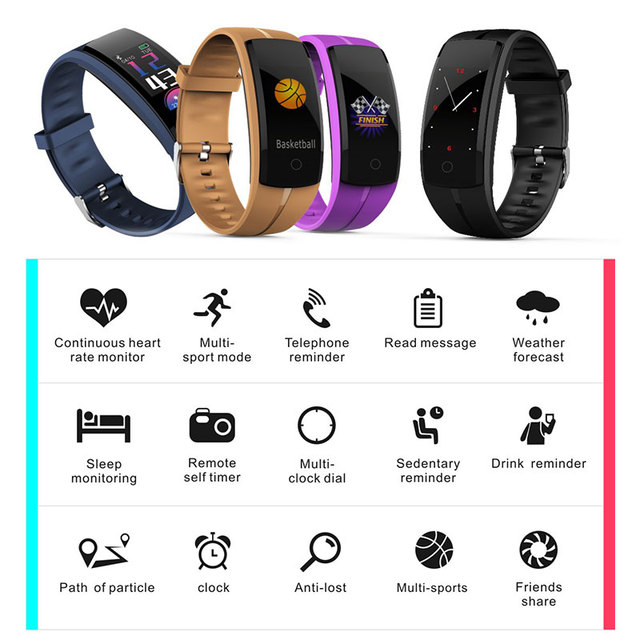 Smart Watches BOAMIGO Unisex Smart Bracelet Wristband Pedometer Heart Rate Message Reminder For IOS Android Phone Bluetooth 4.0
