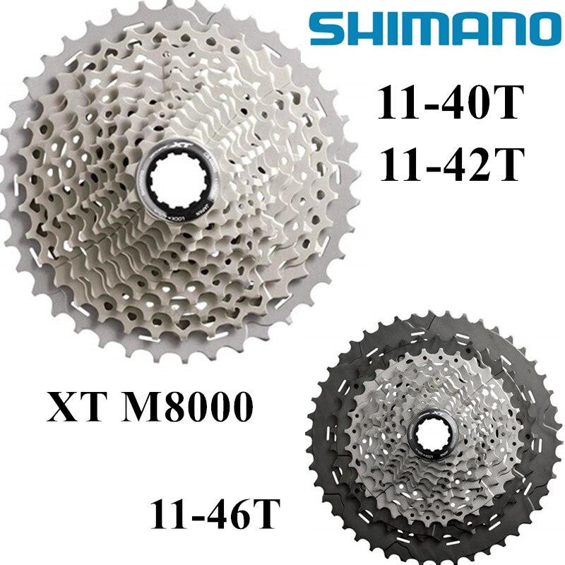SHIMANO Deore XT CS M8000 Rouages Roue Libre Montagne VTT Vélo cassettes 11 vitesse M8000 Cassette Pignon 11-40 T 11-42 T 11-46 T