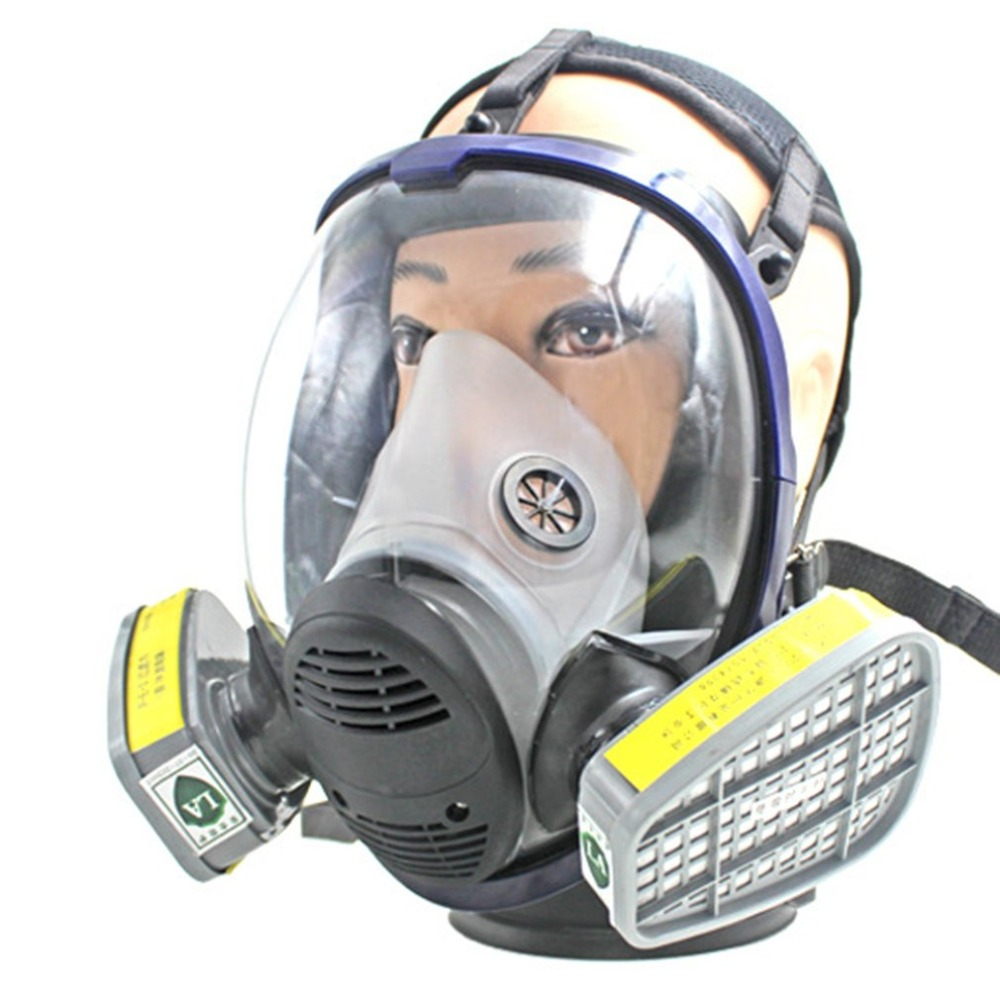 Anti Acid Gas Safety Mask For Industry Painting Spraying Anti-dust Full Facepiece Respirator Gas Mask with Filter Covers 9 in 1 suit gas mask half face respirator painting spraying for 3 m 7502 n95 6001cn dust gas mask respirator