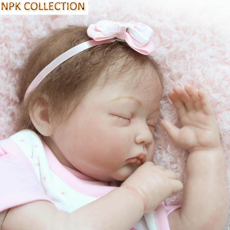 Npkcollection силиконовые возрождается Куклы BABY ALIVE мягкие Игрушечные лошадки для Обувь для девочек Дети, 20 icnh реального Куклы Reborn Спящая кукла мя... ...
