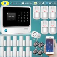 Golden Security G90B Plus Wirelss WIFI GSM GPRS Alarm System Door Close Reminder,Support CID Protocol