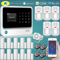Golden Security G90B Plus Wirelss WIFI GSM GPRS Alarm System Door Close Reminder,Support CID Protocol