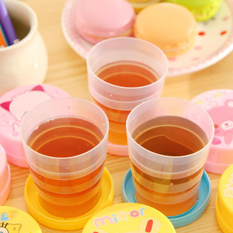For Outdoor Travel Drinkware Tools Protable Solid Color Folding Gargle Cup Water Silicone Cups