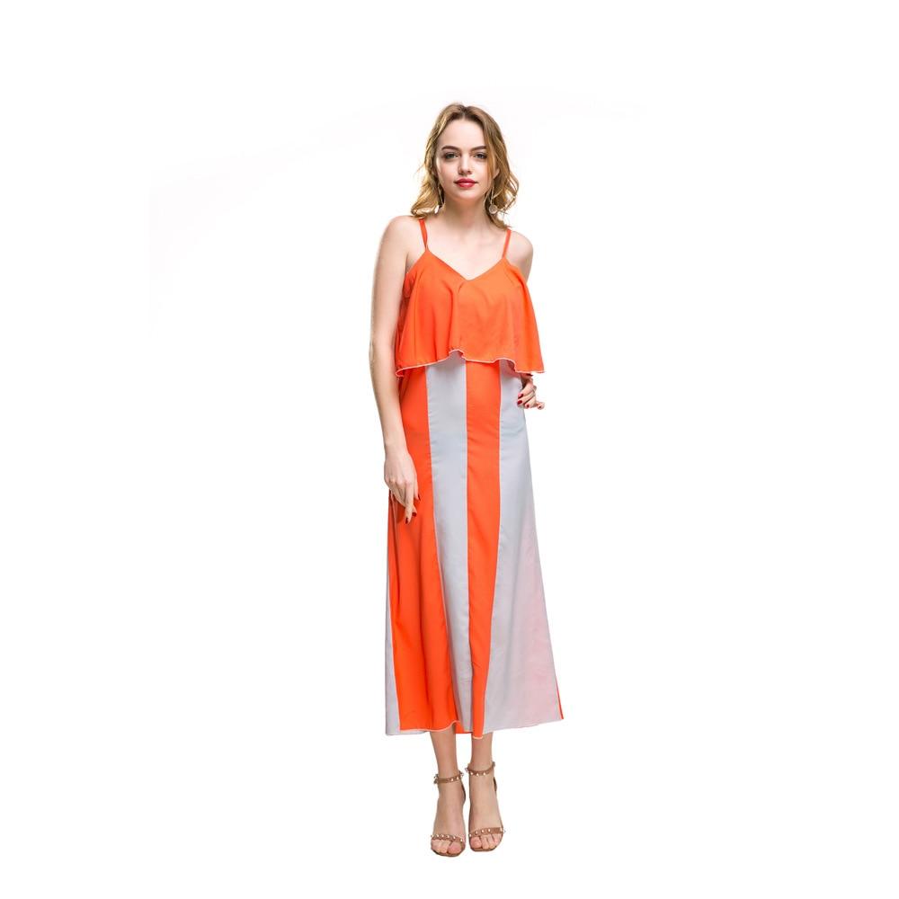 Summer dress Chiffon strapdress Vestidos Fashion Plus size dress women sexy long beach dresses Vestidos verano 2019 Robe femme in Dresses from Women 39 s Clothing