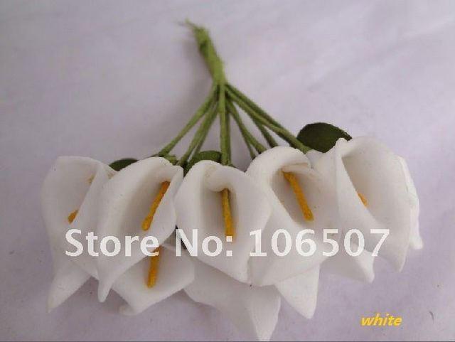 Wholesale and retail Handmade Mini Calla Lily Flower Wedding Favor Decor Scrapbooking(White ,144pcs)--Free shipping