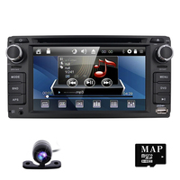 2din 6.2inch 800*480 Car DVD player GPS+BT+Radio+Touch Screen+car pc+aduio+Stereo+Video For Toyota Hilux VIOS Camry Corolla Rav4