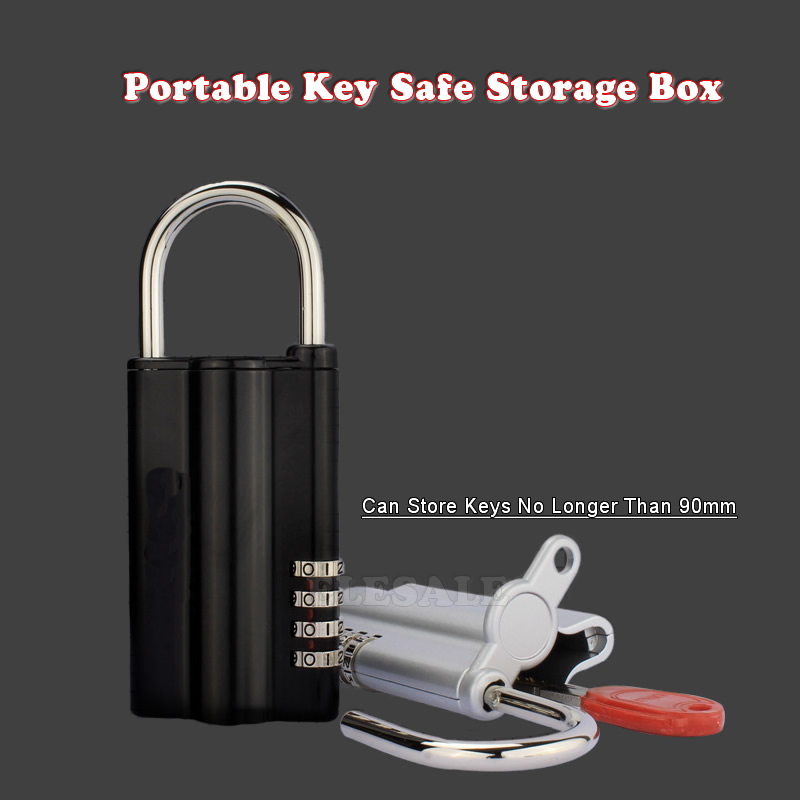New Key Safe Box With Combination Lock Spare Key Safe Storage Organizer Box 4-digital Password For Home Office Carvan Use