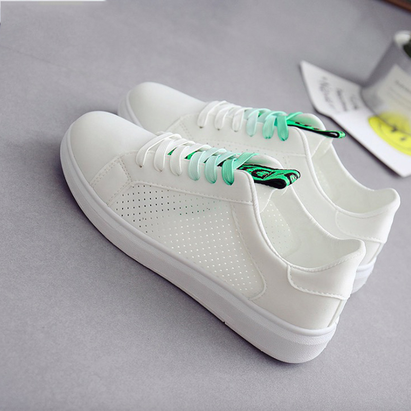 Women Sneakers 2018 Spring Summer Lycra Women Shoes Lace-Up Fashion Lace-Up Breathable Women Casual Shoes 2018 summer sneakers women fashion breathable lycra women casual shoes light soft flats shoes lace up casual women shoes